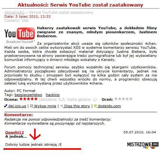 YouTube zaatakowane! –