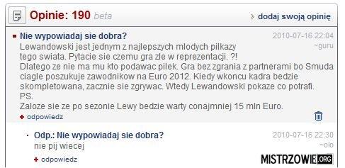 Lewandowski prawie jak najlepszy piłkarz świata –
