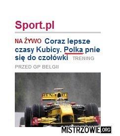 Podobno kobiety nie startują w F1... –