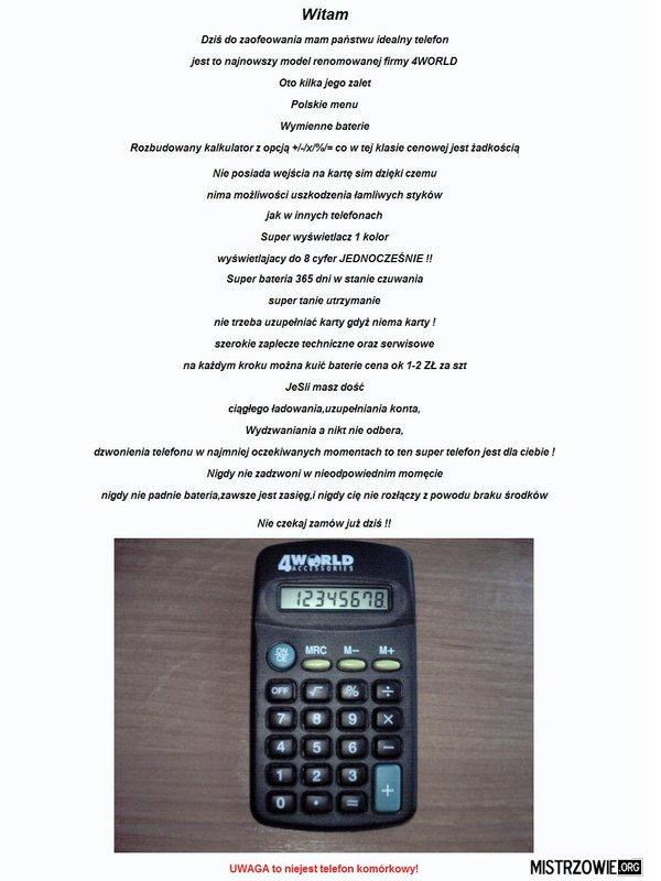 Super-nowoczesny telefon –