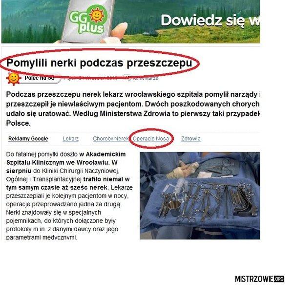 Polska,przeszczepiamy tak samo jak budujemy drogi. –