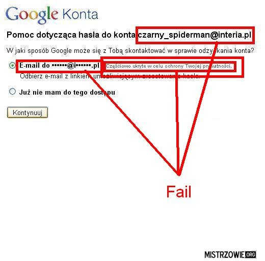 Google fail –