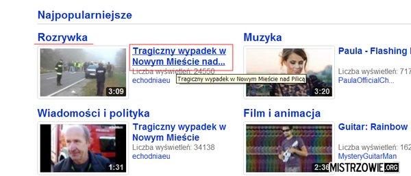 Rozrywka z YouTube –