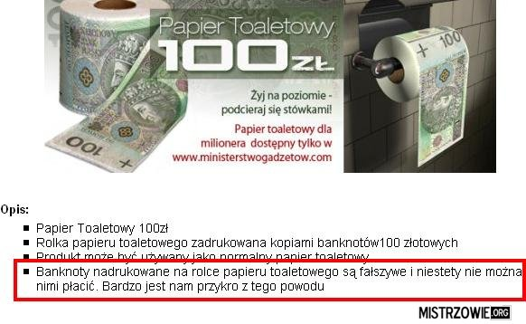 Papier Toaletowy 100zl