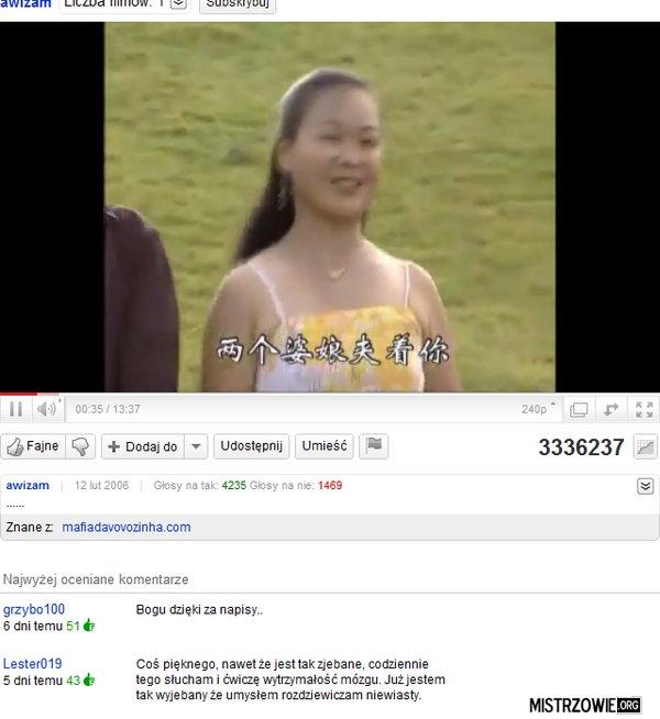 Chińska piosenka –