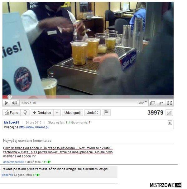 Piwo wlewane od spodu –