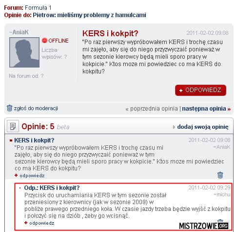 Nowy system KERS –