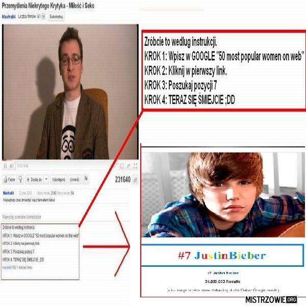 Dowód na płeć Biebera –
