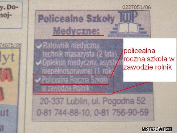Policealna szkoła medyczna –