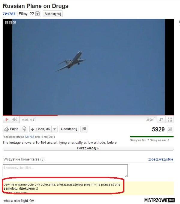 W samolocie –