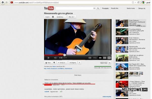 Raiden gra techno na gitarze –