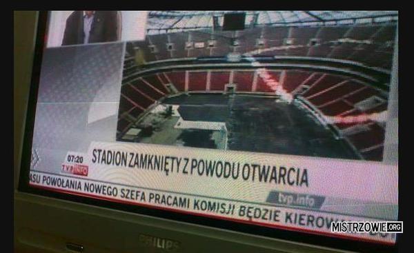 Stadion zamknięty –