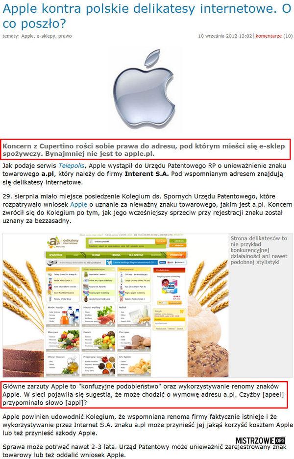 Nowy poziom głupoty - Apple –