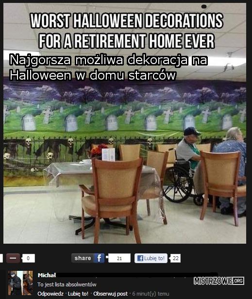 Halloweenowa dekoracja –