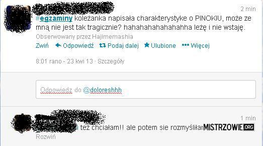 Charakterystyka na egzaminie z Polskiego –