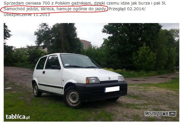 Funkcje samochodu –