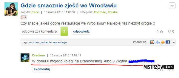 Gdzie dobrze zjeść –