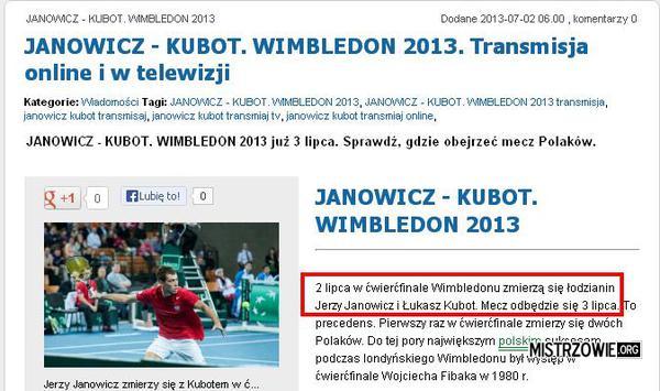 Janowicz - Kubot –