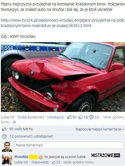 Pijany w kradzionym BMW –