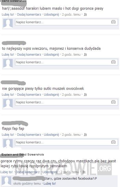 Gdzie zostawiles facebooka? –