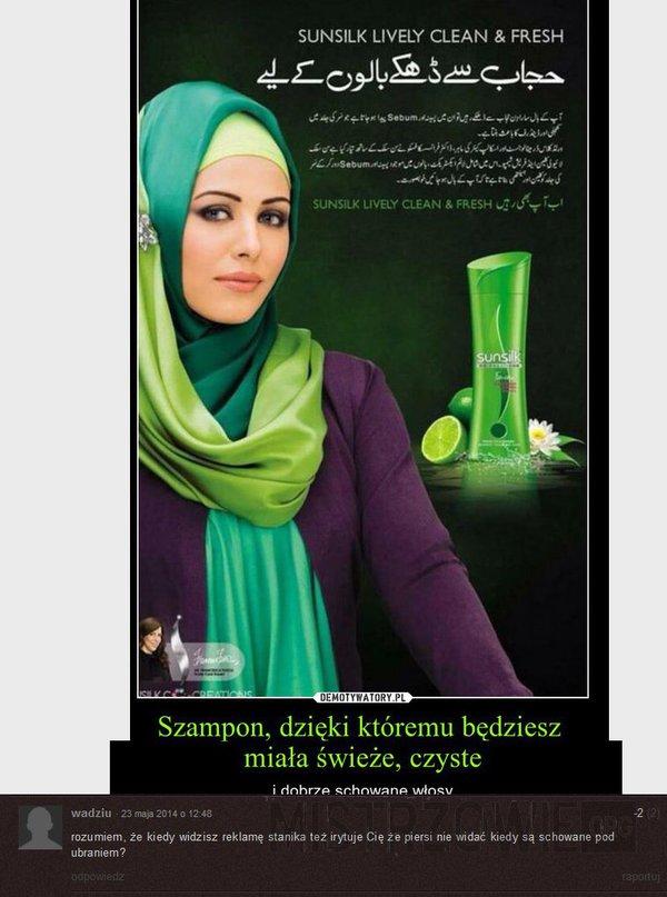 Islamska reklama szamponu –