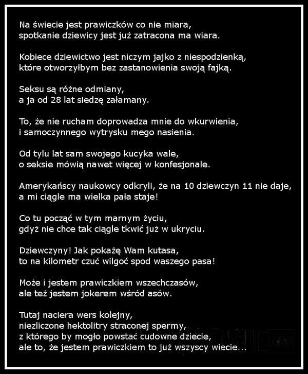 Wiersz O Prawiczku