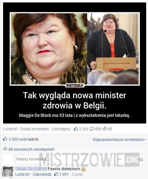 Nowa minister zdrowia w Belgii