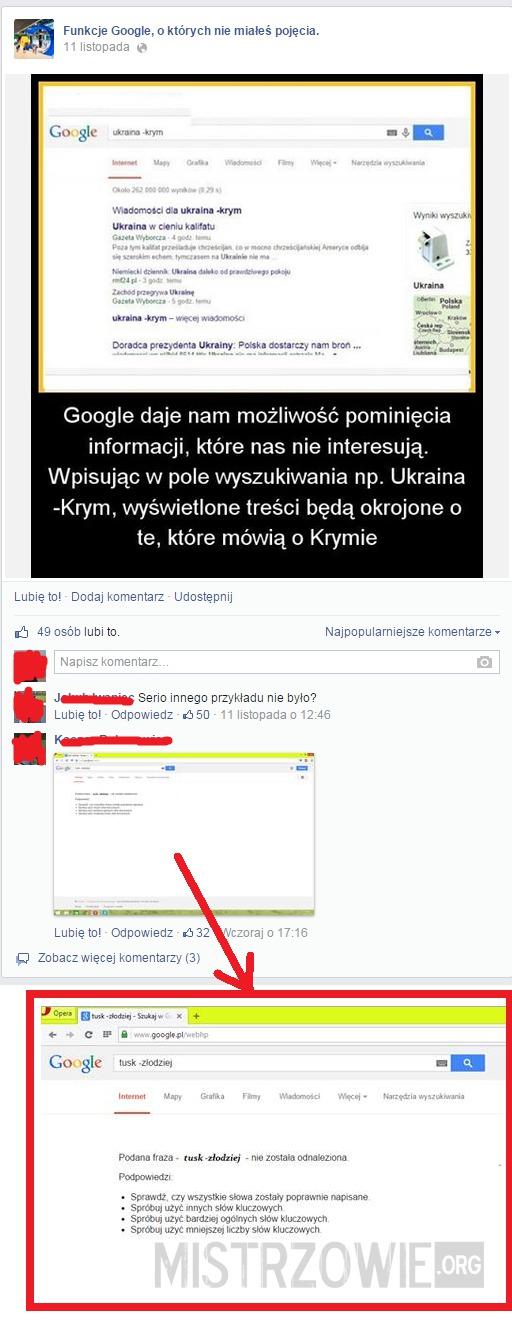 Funkcje google –