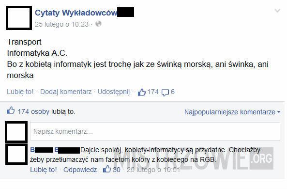 Przydatna kobieta-informatyk! –