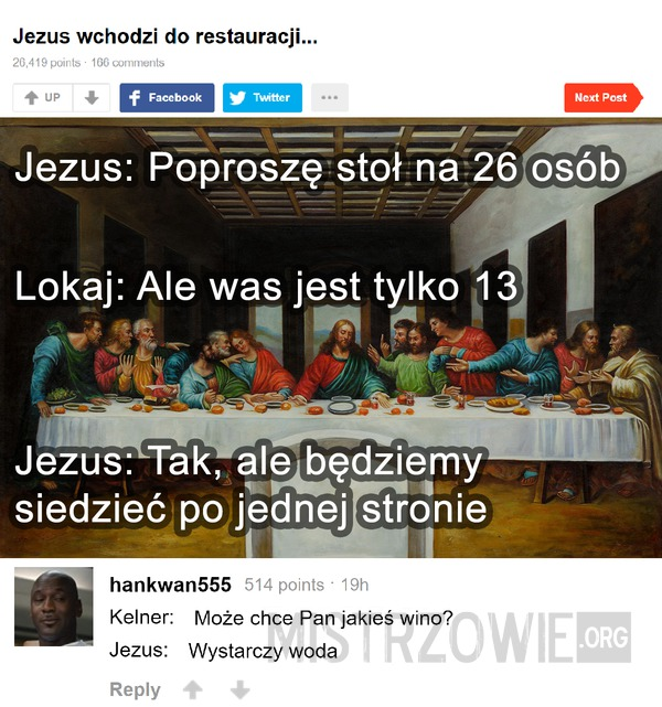 Jezus w restauracji –