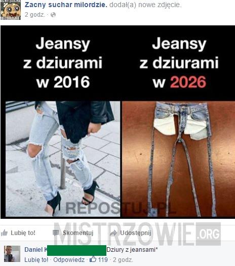6029b765dc61 Jeansy z dziurami