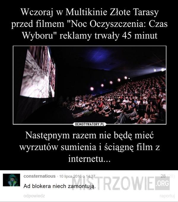 Reklamy w kinie –
