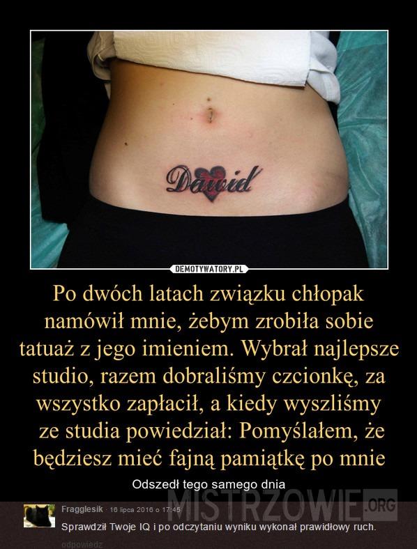 Tatuaż Z Imieniem Chłopaka