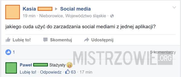 Zarządzanie social media –
