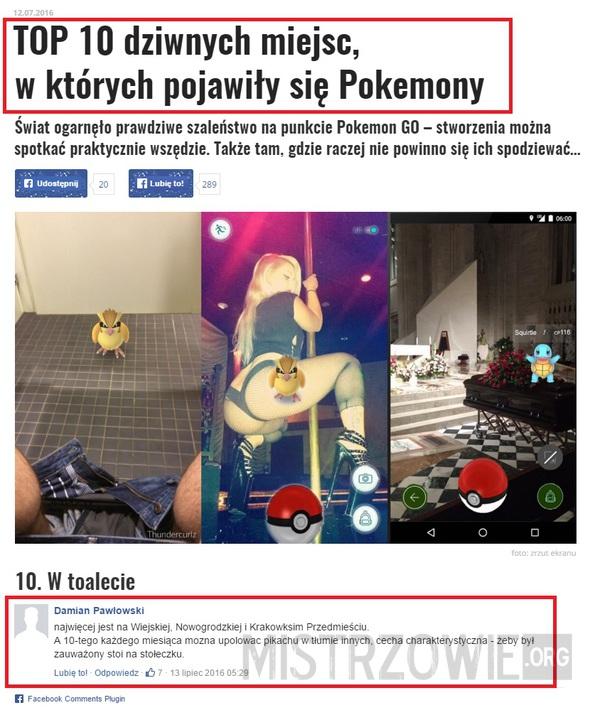 Pokemony everywhere –