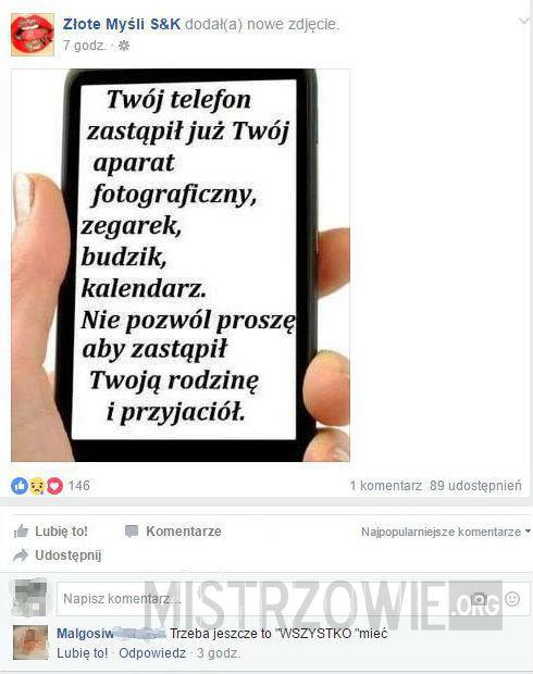 Funkcje telefonu –