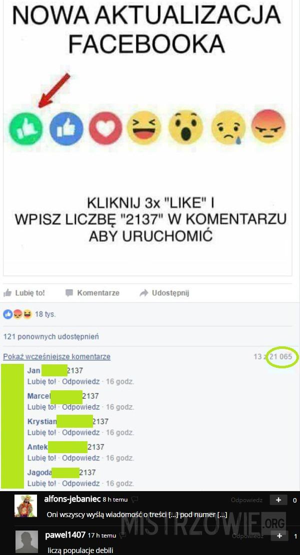 Nowa aktualizacja Facebooka –