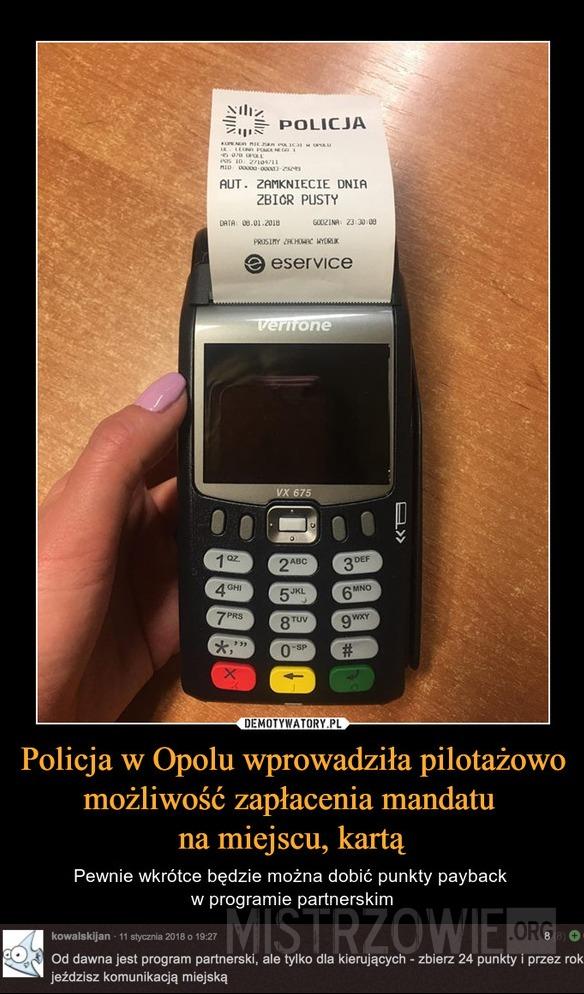 Płatność kartą –